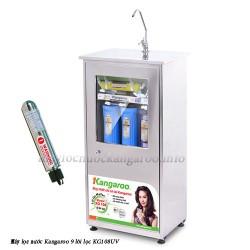 Máy lọc nước Kangaroo 9 lõi KG108UV tủ Inox